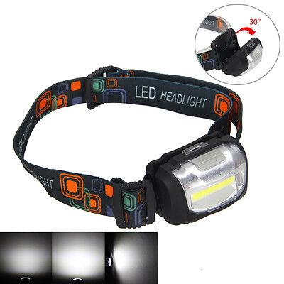 Mini 600LM LED COB Linterna Frontal Head Lámpara Antorcha Luz Cabeza