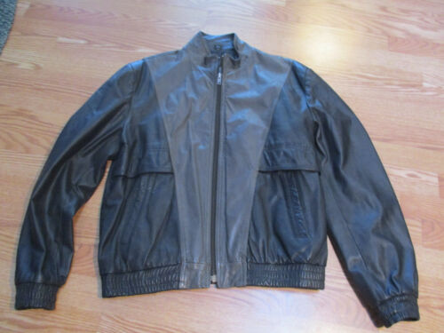 MIDWAY Pilots Green Panels LEATHER BOMBER MOTORCYC