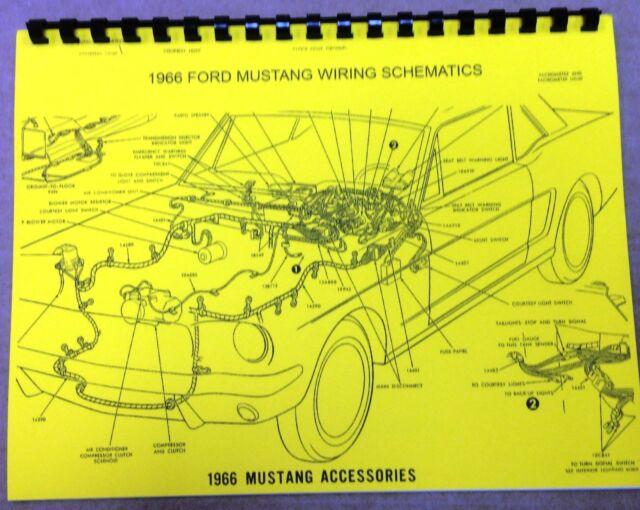 1966 Ford Mustang Wiring Diagram Manual   Measures 8 5 X