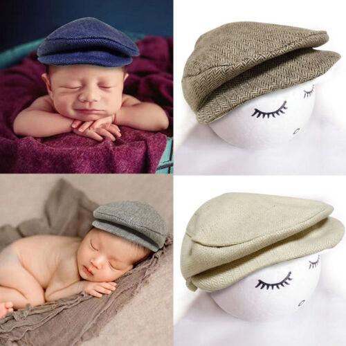 Fashion Nouveau-né Garçon Fille Costume Outfits Baby Photo Props Chapeau Gentleman Cap