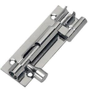 Straight Chrome Door Bolt Sliding Latch, Bathroom Door Bolt Lock