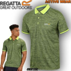 Regatta-Mens-Polo-T-Shirt-Hiking-Camping-Work-Short-Sleeve-Summer-Jersey-Remex