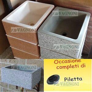 Lavelli Da Giardino Plastica.Dettagli Su Lavandino Acquaio Da Giardino Cm 51 Piletta Lavello Balcone Terrazza Maiella
