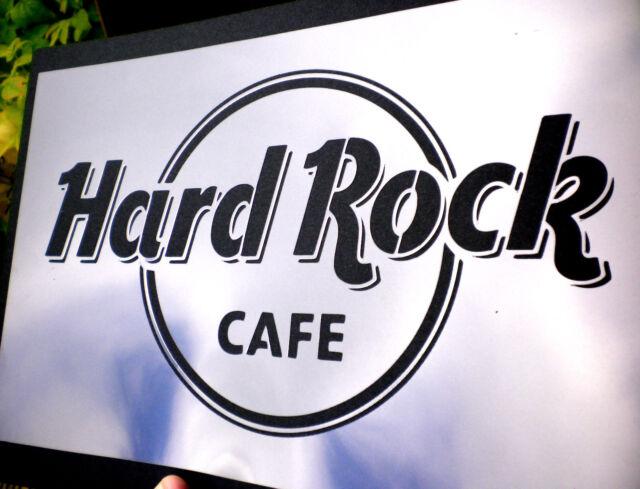 high detail airbrush stencil hard rock logo FREE UK POSTAGE