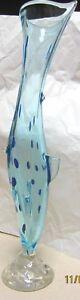 Énorme 21 in (environ 53.34 cm) signé et étiqueté Sal 'viati poisson vase pois et palmes- génial!-afficher le titre d`origine cDfkDMOW-09163152-182338579