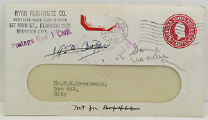 Stanford-University-Cancel-Due-1-Stationery-USA-GS-Stamp-post-Letter-Lot-A3963