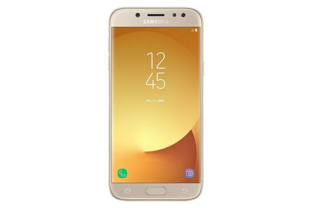 SAMSUNG Galaxy J5 2017 SM-J530FZ BRAND  GOLD  +pellicola VETRO +FODERO