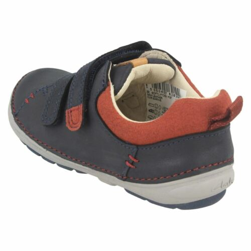 Boys Clarks Softly Toby Fst Leather Casual First Walking Shoes