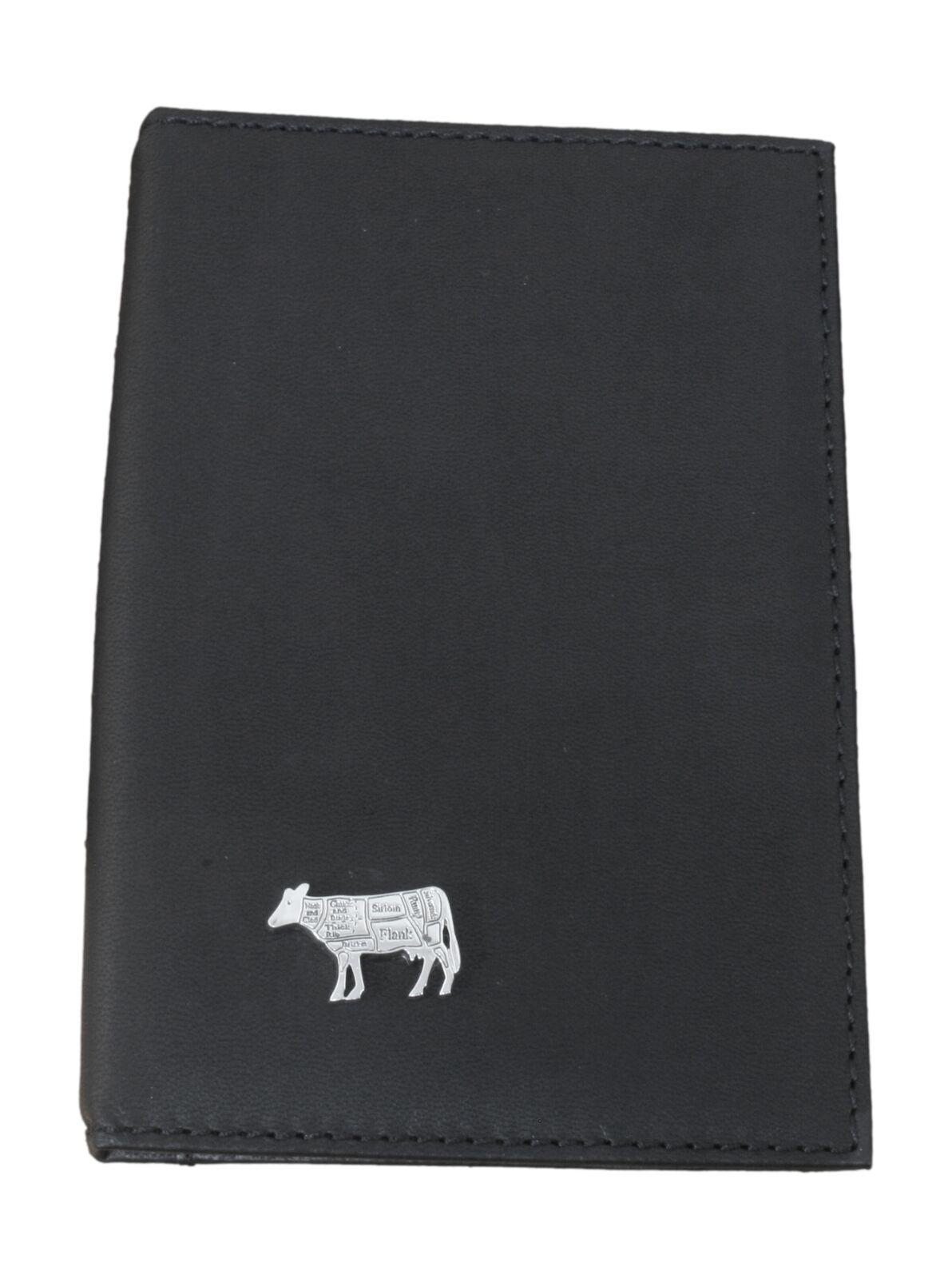 Butcher Cow Black Leather Shotgun/Firearms Certificate Holder 48