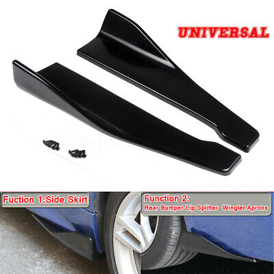 Carbon Side Skirts Rear Bumper Lip Strip Splitter For BMW F10 F30 F32 F36 F80