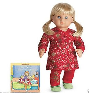 5f0cc36c7f Details about American Girl Bitty Twins Snowflake Tunic Pajamas PJ S  Slippers NIB NRFB NO DOLL