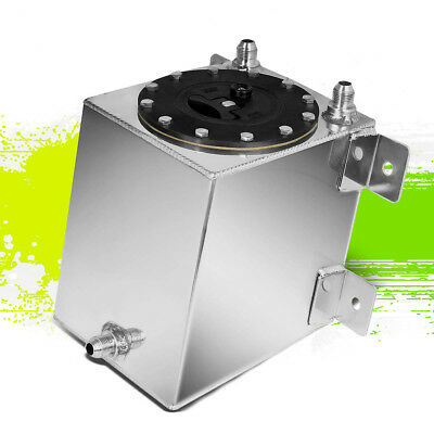 1 GALLON LIGHTWEIGHT POLISHED ALUMINUM BOTTOM FEED GAS FUEL CELL TANK+FOAM