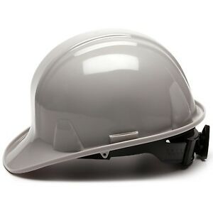 PYRAMEX HARD HAT CAP STYLE WITH 4 POINT RATCHET SUSPENSION, GRAY