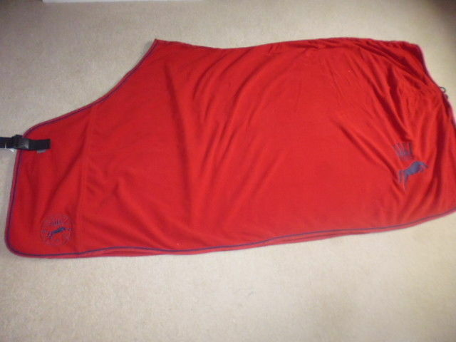 Spooks Fleece Show Rug ROT/navy Größe L 145cm 6'6