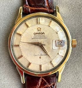 Vintage Omega Constellation Pie Pan Automatic Watch Cal. 561 Gold Capped