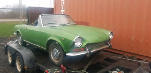 1969 SERIES 1 FIAT 124 SPORT SPIDER RUNS AND DRIVES COMPLETE