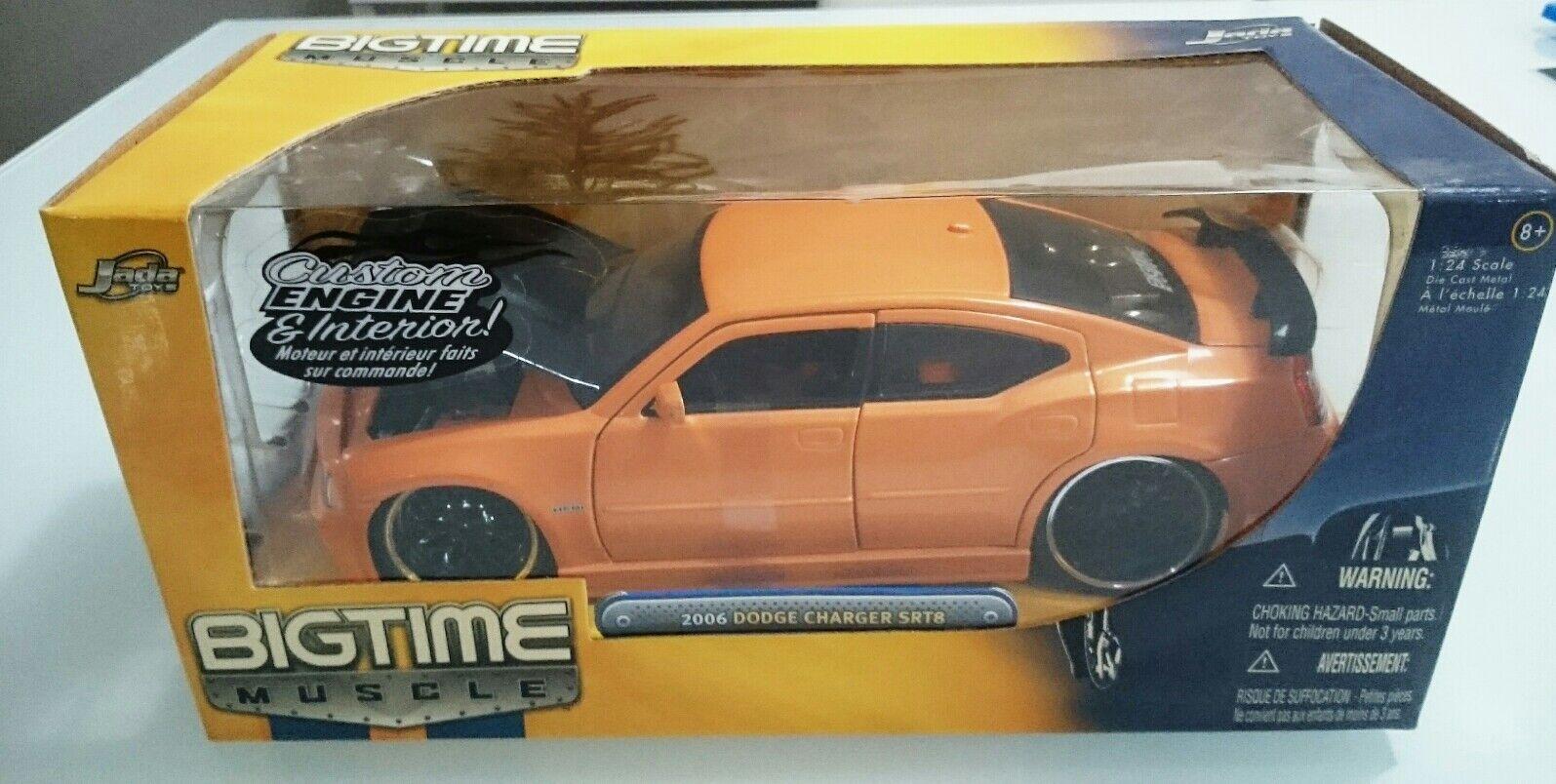 Jada Juguetes 2006 Dodge Cochegador SRT8 Big Time Músculo 1 24 motor personalizado DIE-CAST