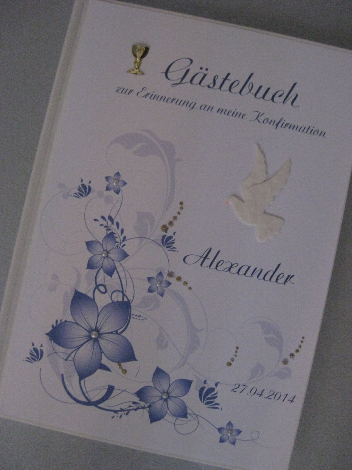 Gästebuch   Blau   Konfirmation Kommunion Deko Tischdeko Geschenk | Sonderangebot  | Gemäßigten Kosten