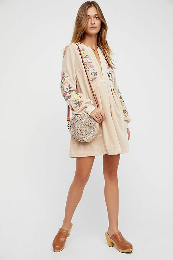 Free People Mia Embroiderd Dress-XS- MSRP