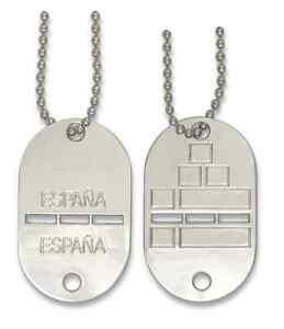 d2bb673a2c26 La imagen se está cargando CHAPA-PLACA-ORIGINAL-IDENTIFICACION-MILITAR -ESPANOLA-ALUMINIO-COLGANTE