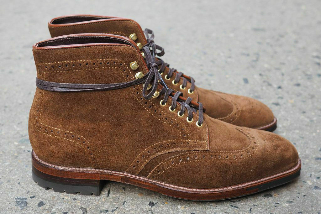Mens Handmade Boots Brown Suede Leather Ankle Lace Up Formal Wear Casual shoes