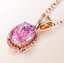 Details about  /Elegant Oval shaped Pendant Necklace Rose Gold over 925 SS PINK TOURMALINE