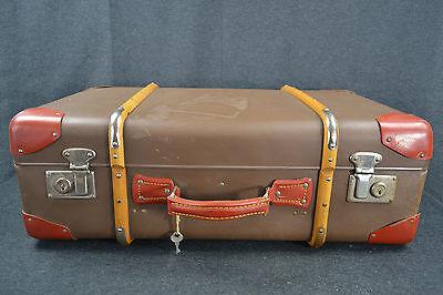 Vulkanfiber Reisekoffer KofferSchlüssel Überseekoffer Shabby Oldtimer Couchtisch