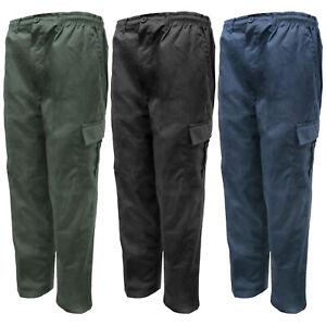 Para-Hombre-Elastico-Cargo-Pantalones-De-Trabajo-Pantalones-de-utilidad-de-pesca-ligero-M-2XL
