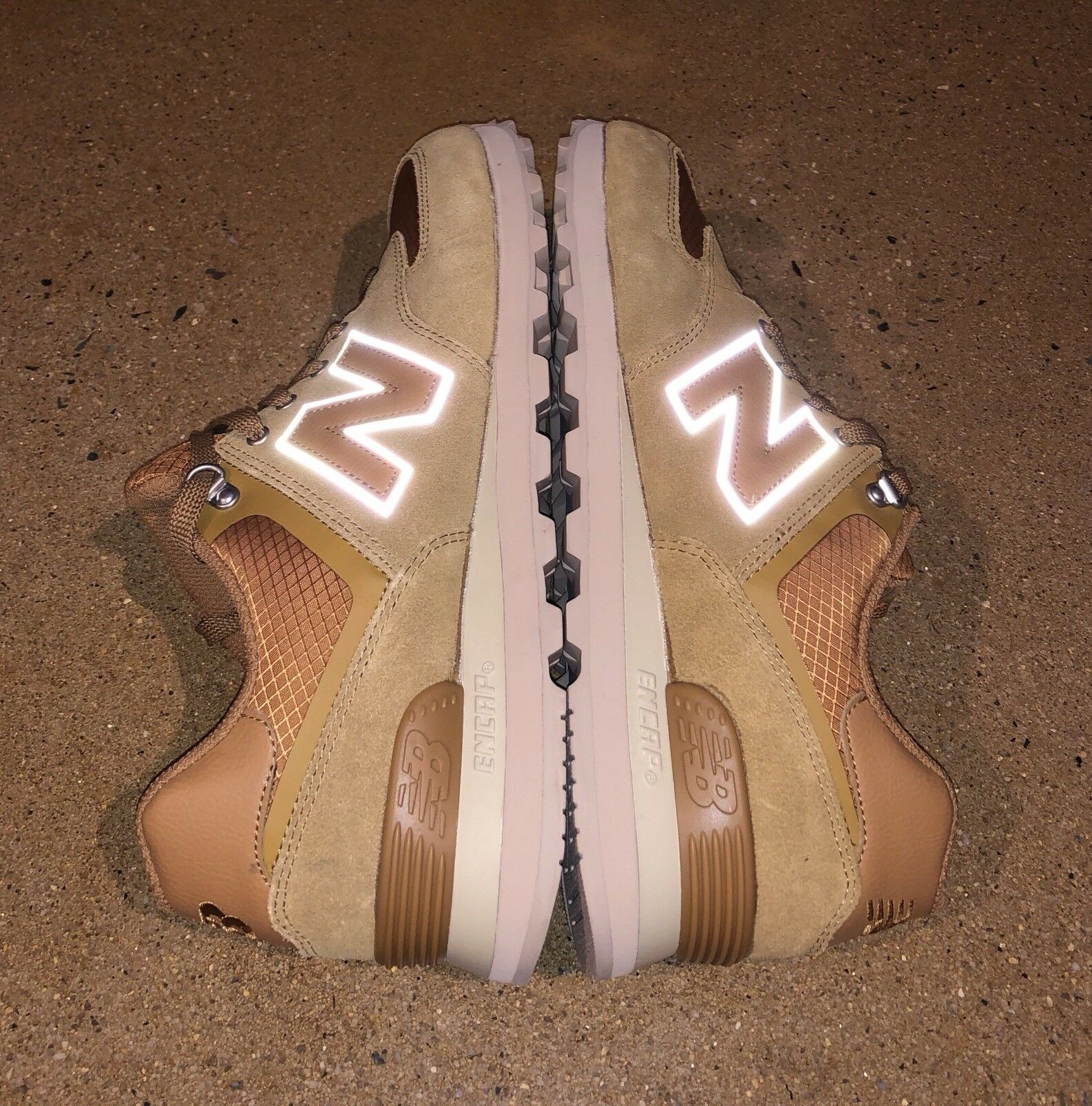 New Balance 574 Nutmeg Sand Size 10 US Running Sneakers shoes