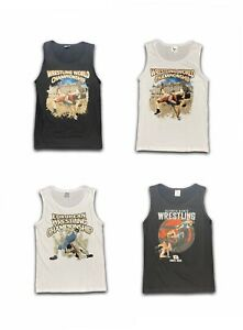 Wrestling-Printed-Herren-Tank-Cotton-Armelloses-T-Shirt-Summer-Training-Tee