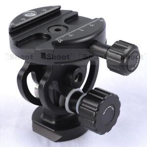 2D-Tilt-Metal-Ball-Head-Clamp-for-Camera-Tripod-Monopod-amp-Quick-Release-Plate