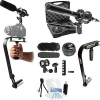15-piece Video Microphone Movie Bundle For Sony Handycam Hdr-cx580 Hdr-pj650