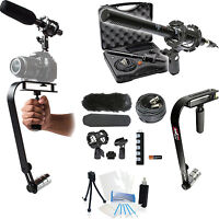 15-piece Video Microphone Movie Bundle For Panasonic Hc-v110 Hc-v100m Hc-v500m