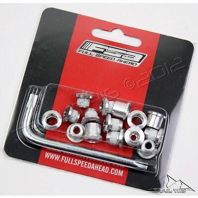 FSA Torx T-30 Alloy Silver Triple / Double Chainring Nuts Bolts Kit 15-Piece Set