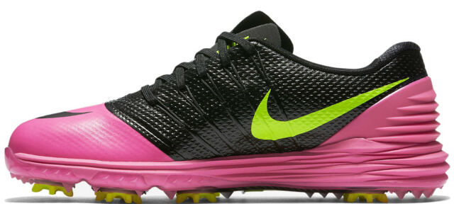d3faeb40716b NIKE 819034-600 LUNAR CONTROL 4 Women s Golf Shoes Pink Blast volt Black