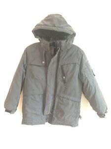 32d34f4ab Hawke   Co. Outfitter Hooded Winter Coat Gray Size 10 12