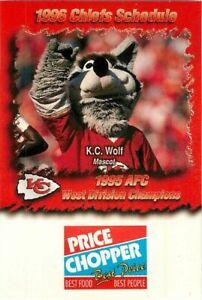 Schedule Football Kansas City Chiefs 1996 Arrowhead Price Chopper Ebay