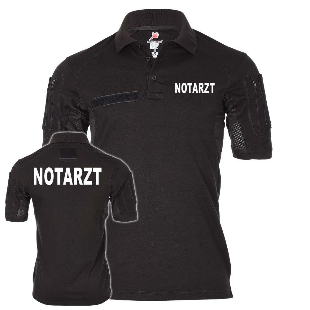 Tactical Poloshirt Notarzt Rettungsdienst Retter Ersthelfer Arzt Doktor
