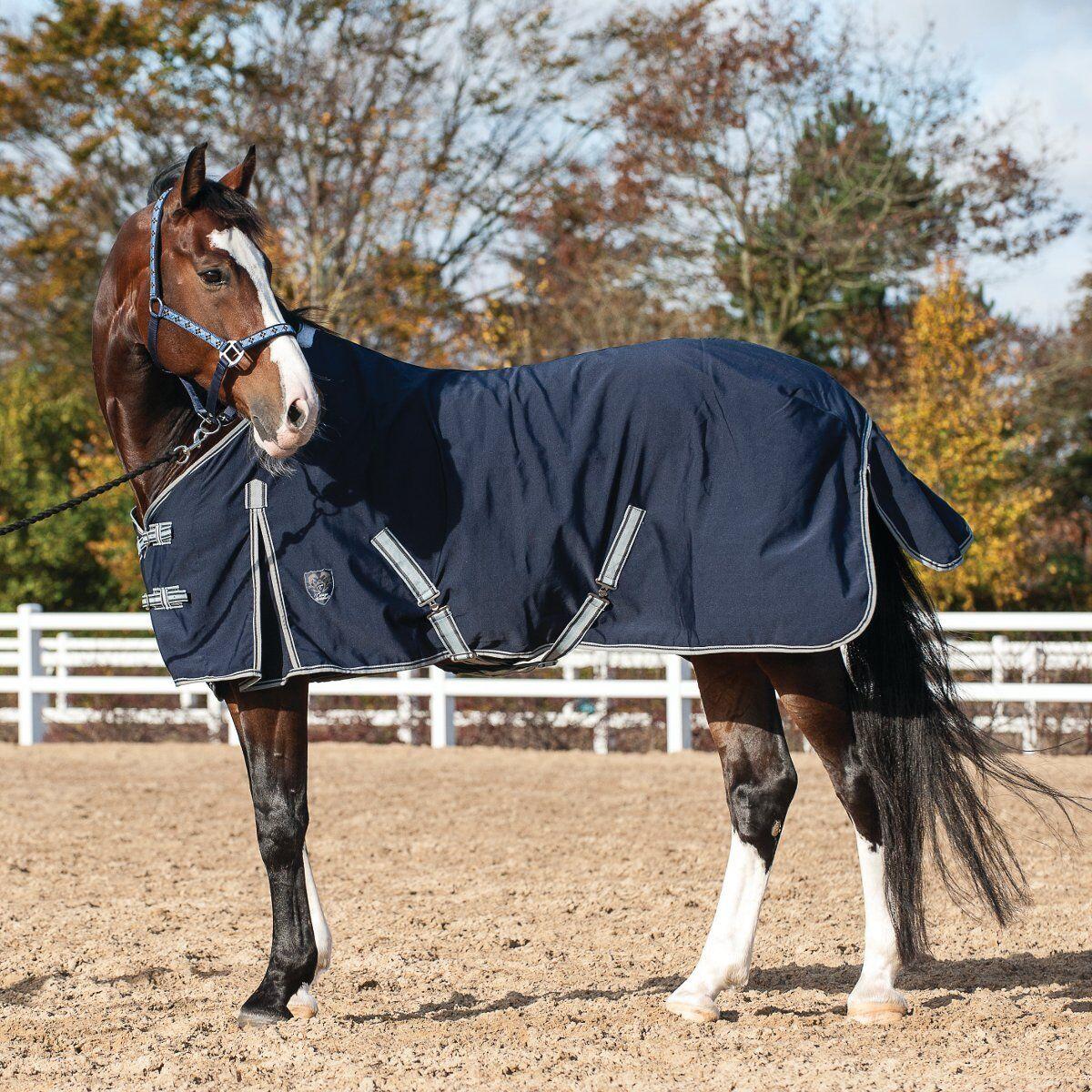 Catago Summer Blanket for Horses - Navy - 155 cm Horse Summer Ceiling