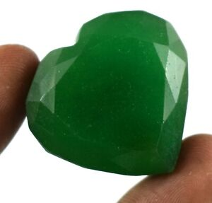 Brazilian Green Emerald Gemstone 192.85 Ct Heart Shape Natural Valentine's Offer
