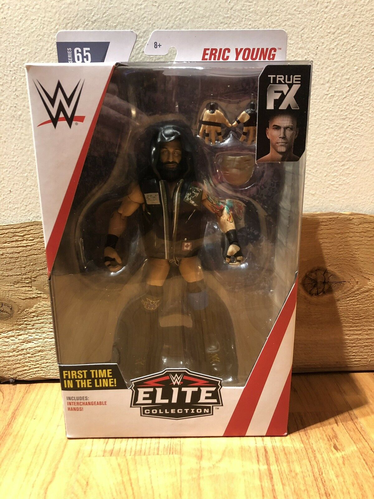 Eric Young Sanity WWE Mattel Elite Series 65 First Time in Line Figure Predector