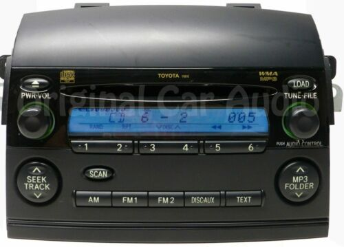 TOYOTA Sienna Radio Stereo 6 Disc Changer MP3 CD Player 11810 86120-AE050 OEM