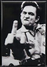 "Johnny Cash B & W Photo 2"" X 3"" Fridge Magnet."