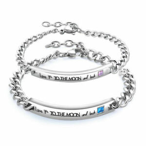 Valentines Gift For Him Her Boyfriend Girlfriend Birthday Couple Lover Bracelet Ebay
