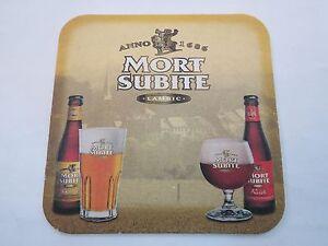 Beer Sous Bock MORT SUBITE Bière