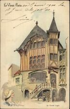 1900 Paris Universelle Expo Le Grand Logis Artist Signed Postcard