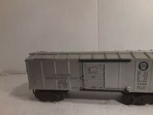 Lionel-3454-merchandise-car-lettering-and-silver-good-not-tested-smallchip-cat-w
