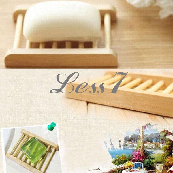 1 x Trapezoid Natural Wood Soap Box Bath Soap Holder Ecological Care J