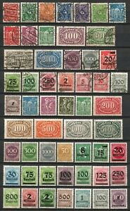 Germany-Weimar-Republic-1922-1923-MNH-amp-Used-Inflation-High-Values-2