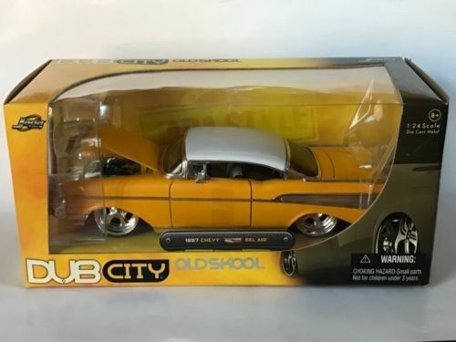 100% precio garantizado Jada 1 24 Dub City Die Cast Metal Oldskool Oldskool Oldskool 1957 Chevrolet Bel Air-Nuevo En Caja   lo último